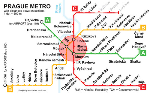 Prague Metro Tourist Zone